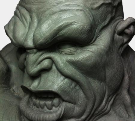 Angryman 01 Bust
